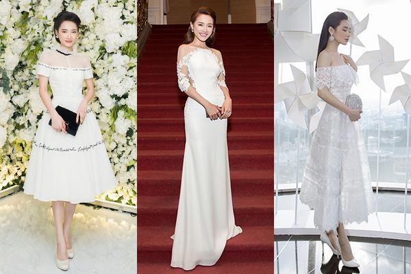 Khi đi sự kiện, Nhã Phương rất ưa chuộng các kiểu váy trắng điệu đà. Những thiết kế với kiểu dáng không quá cầu kỳ này giúp Nhã Phương trông xinh đẹp như cô dâu nhưng vẫn giữ được sự sang trọng, không bị sến.