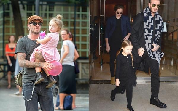 Trước đây Harper luôn xuất hiện trong những trang phục đáng yêu, phù hợp lứa tuổi.