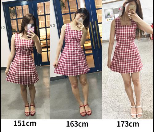 Các cô gái với nhiều chiều cao, vóc dáng khác nhau dều có thể chinh phục chiếc váy đáng yêu dễ chiều này.