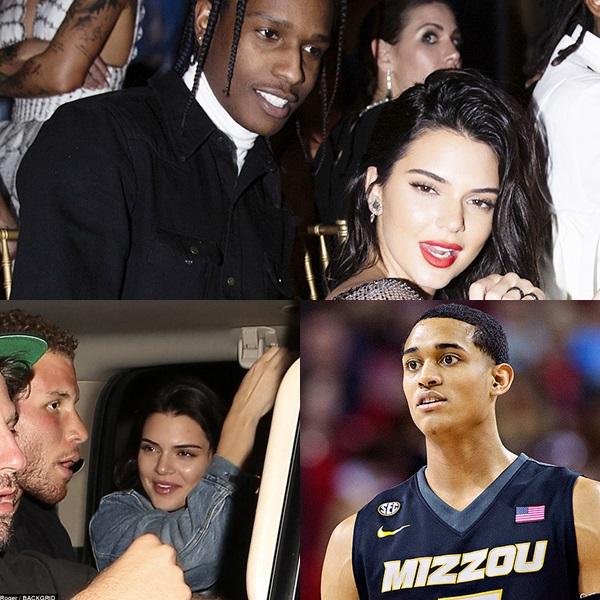 Trong thời gian hẹn hò A$AP Rocky (trên), Kendall bị cho là vẫn hẹn hò Blake Griffin (trái) và Jordan Clarkson (phải).