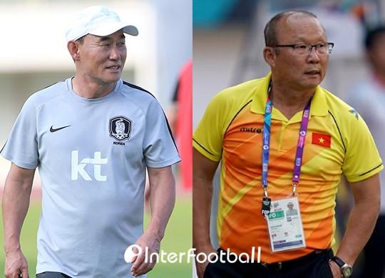 Truyền thông Hàn nhấn mạnh về việc HLV Kim Hak-bum của Olympic Hàn Quốc sắp đối đầu với người đồng hương Park Hang-seo tại Asiad 2018.