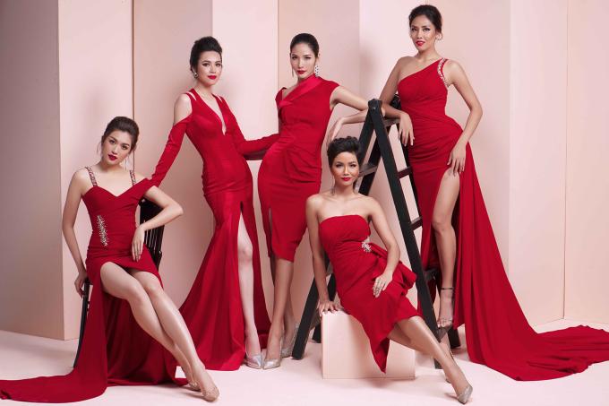 <p> Dàn Hoa hậu, Á hậu của Hoa hậu Hoàn vũ Việt Nam vừa có dịp tụ hội trong bộ ảnh thời trang mới, khoác lên mình những bộ cánh dạ hội của NTK Linh San.</p>