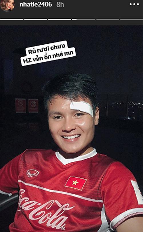 Nhật Lê thông báo tình hình sức khỏe của Quang Hải vẫn ổn sau trận đấu.