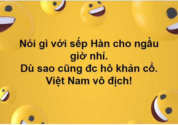 Sau trận bán kết này, không biết tình đồng nghiệp, mối quan hệ giữa sếp và nhân viên tại các công ty Việt - Hàn sẽ đi về đâu đây???