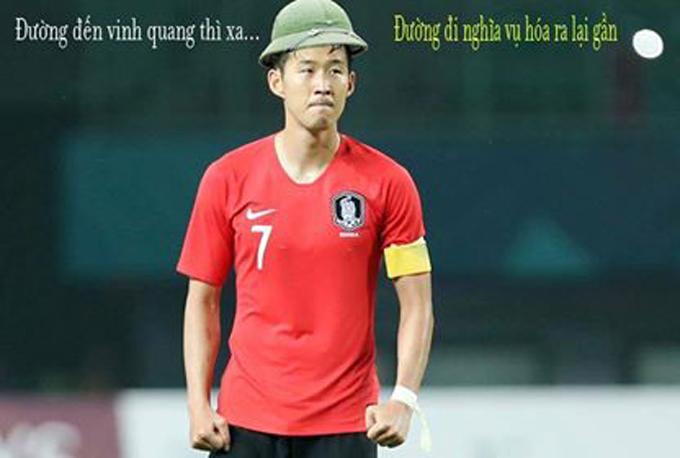 Fan Việt chế ảnh đi nghĩa vụ 'đe dọa' tinh thần Son Heung-Min