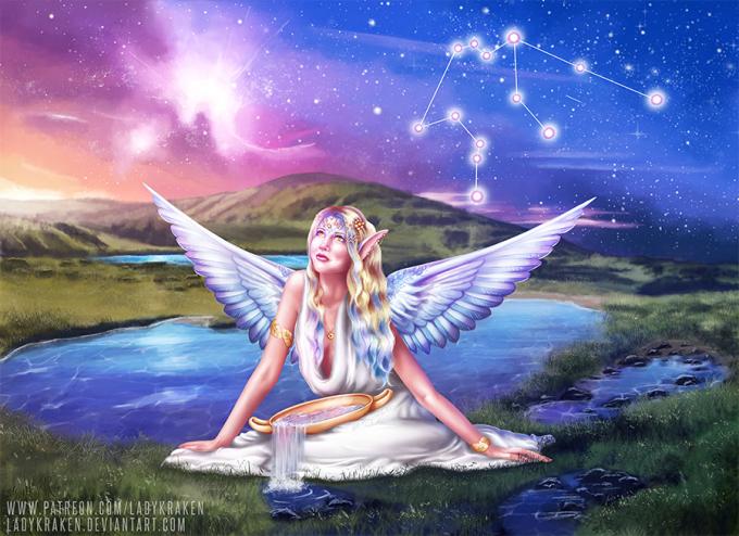 """<p> Biểu tượng của chòm sao Bảo Bình là hình ảnh """"Thần mang nước"""" mang sự sống đến cho nhân loại. Trong thần thoại Hy Lạp, nhân vật vĩ đại này chính là thần Zeus tối cao.</p>"""