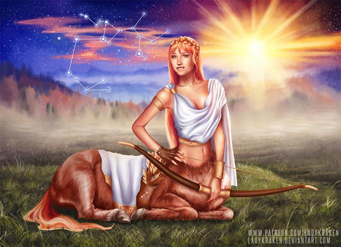 <p> Nhân Mã trong thần thoại Hy Lạp có hình dạng là một vị thần nửa người nửa ngựa với tài bắn cung bách phát bách trúng. Chính vì vậy, biểu tượng của chòm sao này gắn liền với hình ảnh cung tên.</p>