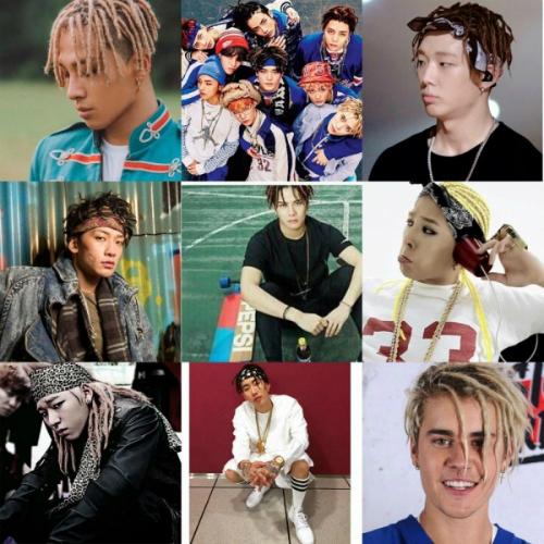 Tóc dreadlook cũng xuất hiện đầy ấn tượng trong style của Justin Bieber và nhiều idol K-pop.