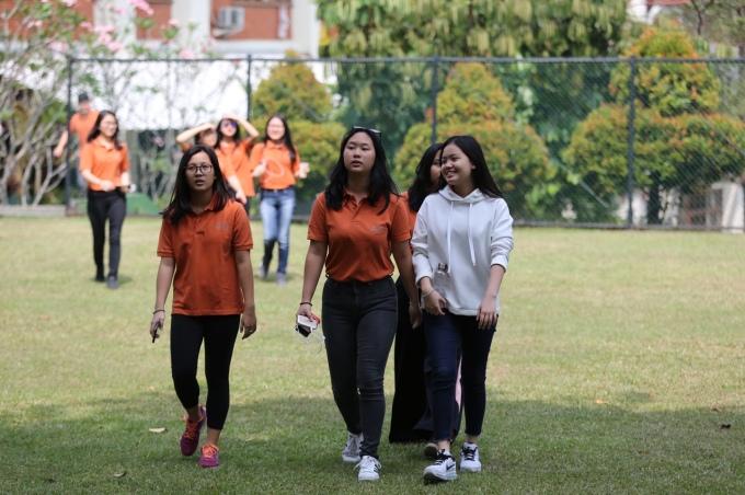 <p> Học sinh của trường được thông báo nghỉ học và theo dõi Olympic Việt Nam tập luyện.</p>
