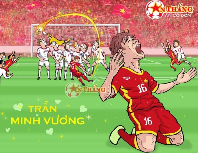 <p> Trọng trận đối đầu giữa Olympic Việt Nam - Olympic Hàn Quốc hôm 29/8 tại vòng bán kết, Trần Minh Vương đã có pha sút phạt thần sầu đem lại bàn thắng danh dự cho đội nhà.</p>