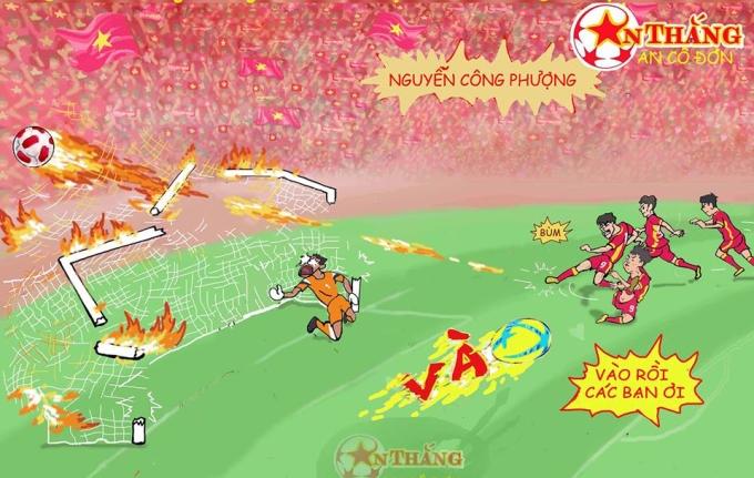 <p> Cú sút sấm sét cháy lưới khung thành hôm 23/8 của Công Phượng trong trận knock-out với đối thủ Olympic Bahrain.</p>