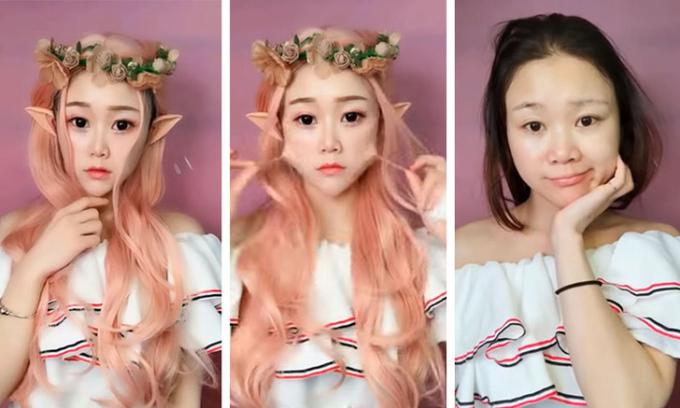 Nhan sắc thật gây sốc của dàn hot girl Trung Quốc sau khi lột 'mặt nạ' phấn son