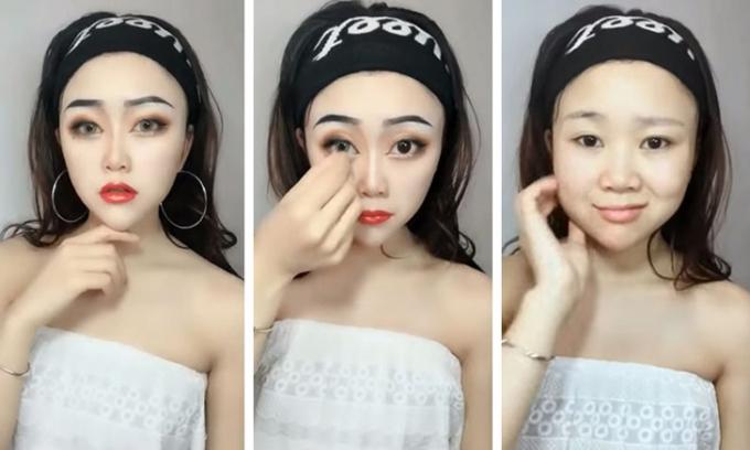 <p> Chỉ đến khi các cô gái quyết định tẩy trang, nhiều fan mới choáng váng khi biết đôi mắt to, chiếc mũi cao hay gương mặt V-line thon gọn đều là sản phẩm của công nghệ.</p>