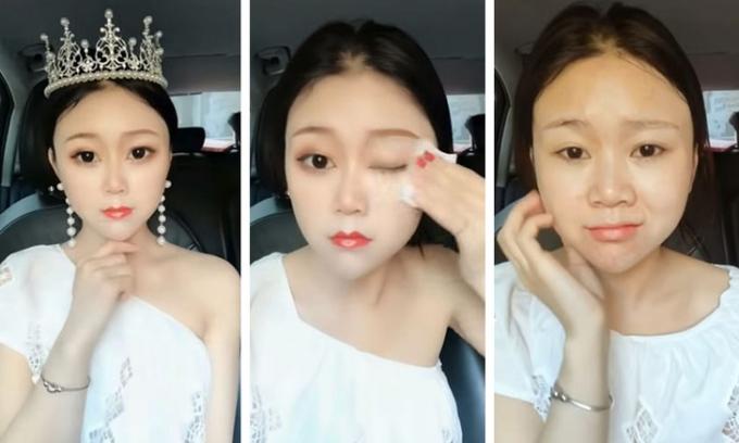 <p> Bằng cách trang điểm, các cô gái Trung Quốc có thể biến hóa dung nhan, mỗi lần như trở thành một người khác biệt.</p>