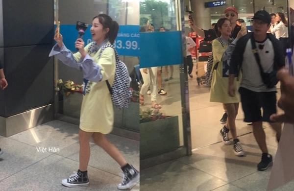 Trưa 3/9, cựu thành viên 2NE1 Sandara Park hạ cánh sau chuyến bay từ Seoul đến sân bay Tân Sơn Nhất, Tp.HCM.