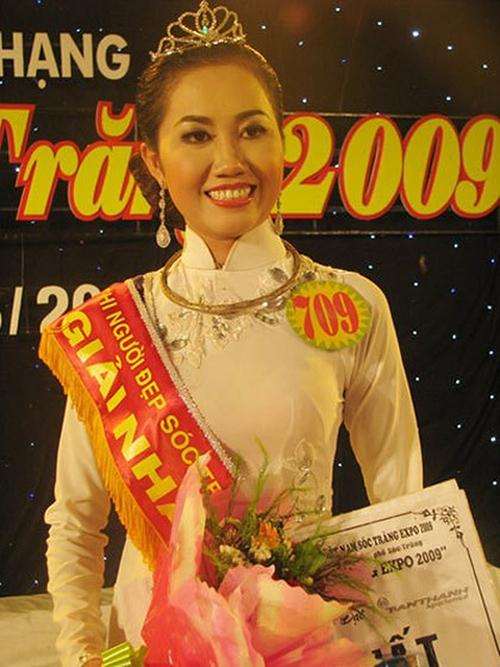Võ Mỹ Xuân lúc đăng quang Hoa hậu Nam Mekong 2009.