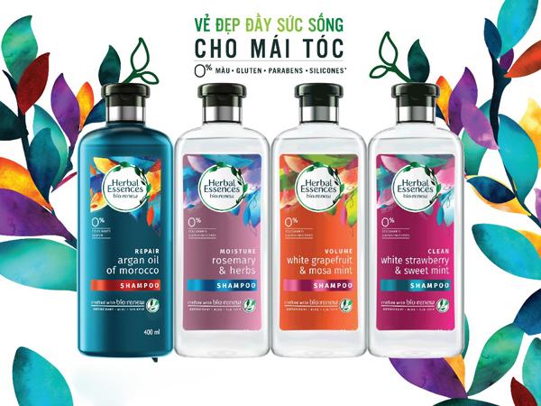 Herbal Essences có thành phần chiết xuất từ thiên nhiên và hoạt chất chống oxyhóa giúp bảo vệ tóc.