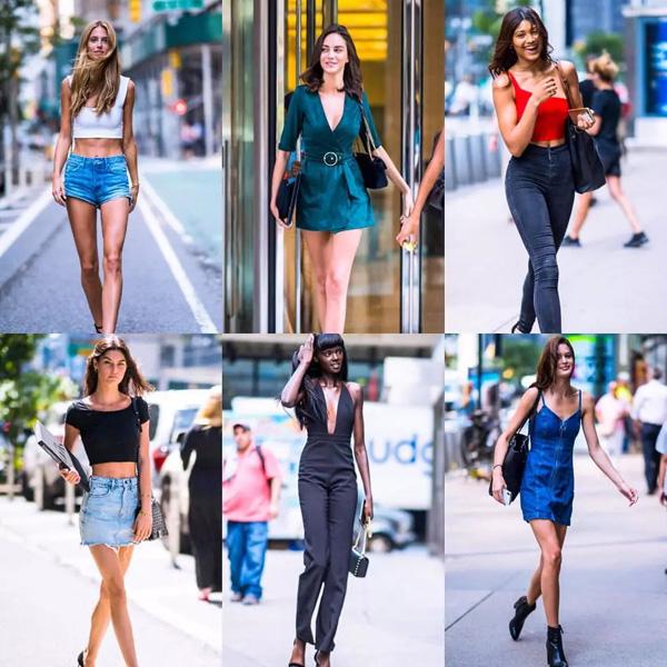 Croptop, chân váy ngắn, váy hở ngực mát mẻ... là những kiểu đồ yêu thích của các chân dài khi đi casting.