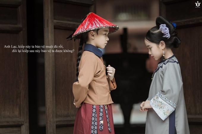 """<p> Yêu thích bộ phim """"nổi đình nổi đám"""" này nên mẹ của hai bé Hữu Nhật - Khánh Linh đã lên ý tưởng cho bộ ảnh và được thực hiện bởi nhiếp ảnh gia Đỗ Xuân Bút.</p>"""