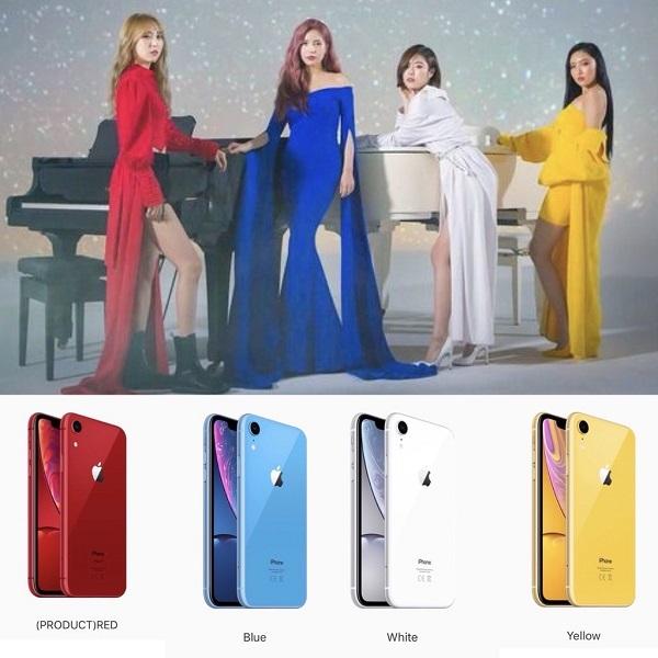 Một sự trùng hợp vô cùng thú vị! Phải chăng người thiết kế iPhone 2018 là một fan cuồng Kpop và Mamamoo chính là nhóm nhạc được nhân vậtnày yêu thích?