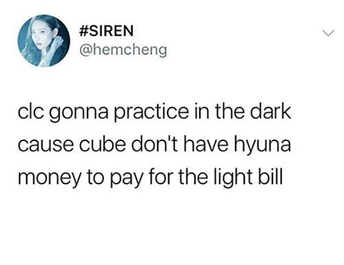 Viễn cảnh tăm tối khi nhóm CLC phải tập trong phòng tối om do Cube không còn tiền trả tiền điện.