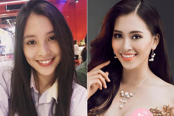Tân Hoa hậu Việt Nam Trần Tiểu Vy được khen là nữ thần mặt mộc. Có đường nét sắc sảo, nụ cười rạng rỡ, Tiểu Vy không cần đến son phấn cũng đã đủ xinh xắn. Đây cũng là lý do trước khi đăng quang, cô nàngrất chăm chỉ khoe mặt mộc trên mạng xã hội.