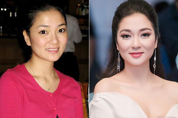 Hoa hậu Việt Nam 2006 Nguyễn Thị Huyền sở hữu những đường nét tròn đầy, trong trẻo, chẳng cần đến trang điểm cũng đã là mỹ nhân. Nhược điểm duy nhất của cô là làn da có tàn nhang.