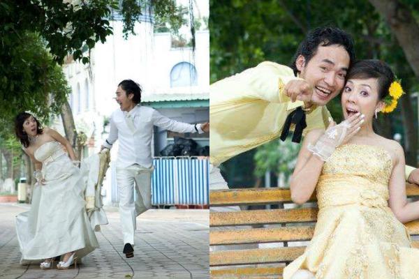 Thu Trang và Tiến Luật kết hôn vào ngày 11/1/2011, đến nay họ đã chung sống ngót nghét gần 10 năm. Bộ ảnh cưới đầu tiên từng được họ giới thiệu khiến fan không ngậm được miệng bởi sự hài hước, lầy lội xuất phát từ tính cách của cả hai.