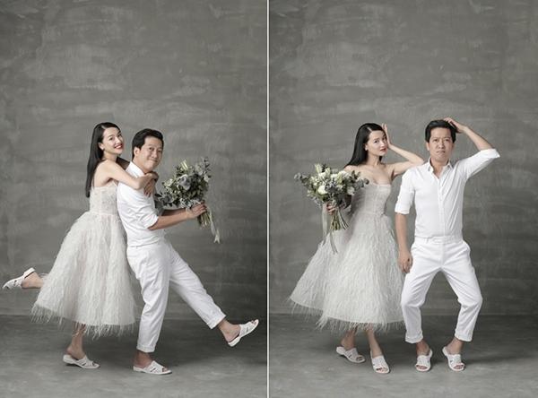 Cử chỉ, hành động của Trường Giang - Nhã Phương giống như phong cách thường thấy trên sân khấu hài họ từng thể hiện.