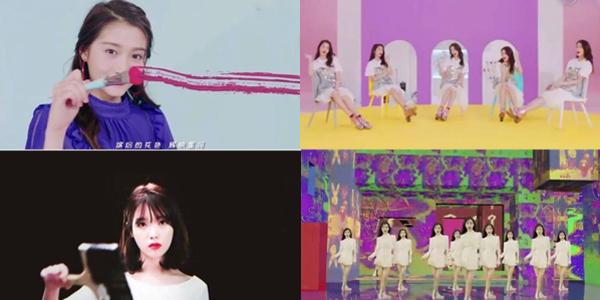 Những hình ảnh được cho là giống nhau về ý tưởng giữa MV của Quan Hiểu Đồng và của IU.