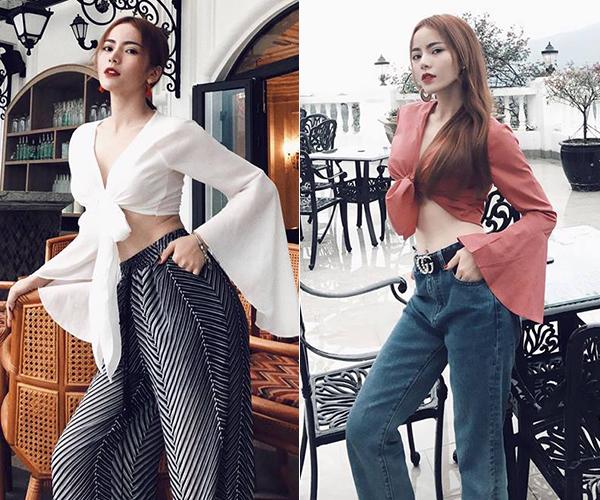 Phong cách ăn mặc của Kim Thành mang hơi hướng sexy kiểu Tây, được nhiều bạn trẻ học hỏi. Hot girl xứ Quảng cũng thường xuyên được mời làm người mẫu cho các shop thời trang.