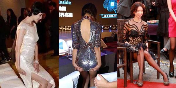 Ham diện váy gợi cảm, khi đứng lên ngồi xuống Lâm Chí Linh luôn phải giữ rịt vạt váy để tránh hớ hênh, trông tư thế rất gượng gạo. Khi ngồi xuống ghế thấp, cô nàng cũng phải vắt xoắn cả chân vì váy ngắn quá.
