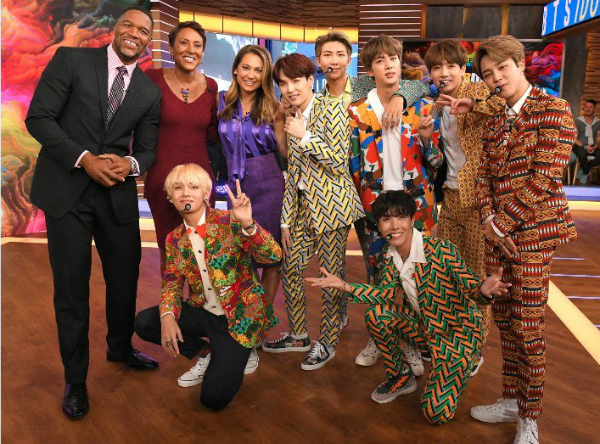 BTS tại show Good Morning America.