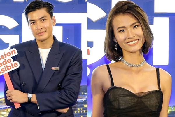 Người mẫu Quang Đại và Cao Thiên Trang.