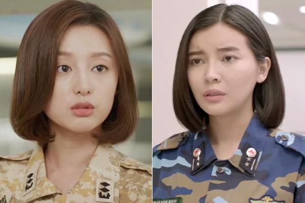 Trong khi ở bản gốc, kiểu tóc ngắn của Kim Ji Won được tạo kiểu uốn cụp vào gương mặt khá đẹp mắt thì kiểu tóc rẽ ngôi giữa, thường xuyên trong tình trạng thẳng đuột, ép sát vào da đầu lại dìm nhan sắc Cao Thái Hà ít nhiều.