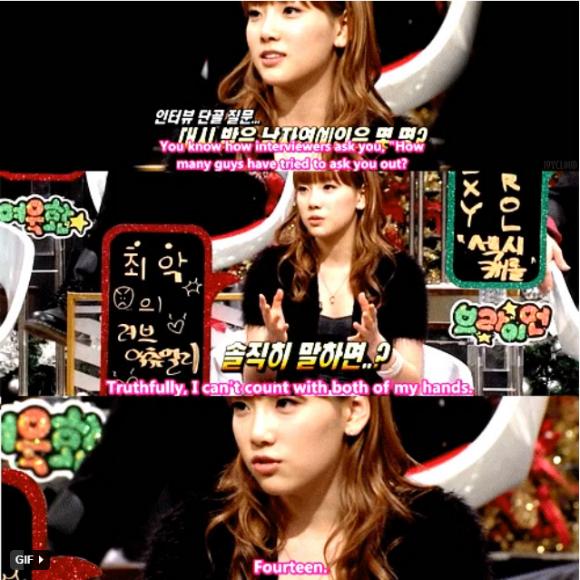 Tae Yeon có nhiều sao nam theo đuổi.