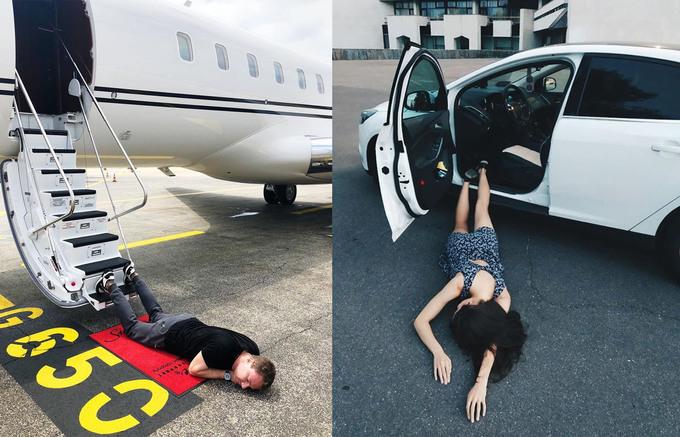 """<p> Từ giữa tháng 8, hội con nhà giàu Nga thi nhau tham gia trò chơi mới mang tên Falling Stars 2018. Kiểu tạo dáng """"ngã sấp mặt"""" đòi hỏi người tham gia nằm sấp trên nền đất rồi chụp ảnh và không ngần ngại khi pose hình ở chỗ đông người. Trào lưu này nhanh chóng lan rộng ra <a href=""""https://ione.net/photo/nhip-song/hoi-rich-kid-phat-sot-voi-kieu-pose-anh-nga-sap-mat-3796855.html"""">giới trẻ</a> khắp thế giới, trong đó có Việt Nam. Hội con nhà giàu thế giới hay các <a href=""""https://ione.net/tin-tuc/sao/viet-nam/sao-viet-dua-nhau-chup-anh-nga-sap-mat-ai-tao-nen-buc-anh-ba-dao-nhat-3816888.html"""">ngôi sao</a> cực mê trò chơi này, thậm chí, họ còn phá cách và gây ấn tượng bởi tạo background """"chất lừ"""" khi ngã cũng phải đúng """"đẳng cấp"""" rich kid.</p>"""
