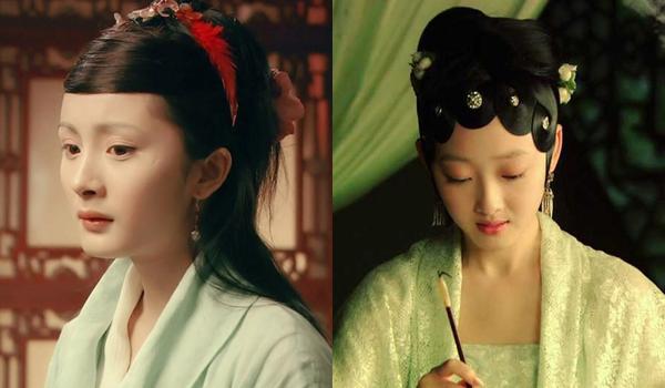 Một nữ chính khác của Hồng lâu mộng 2010 là Tưởng Mộng Tiệp,  thủ vai Lâm Đại Ngọc (phải) cũng không có sự nghiệp phát triển như ý. Sau bộ  phim, cô không có tác phẩm nào đáng chú ý, chỉ được nhắc đến với bộ ảnh  gợi cảm trên tạp chí đàn ông đầu năm 2017. Trong khi đó, một nữ phụ khác  trong Hồng lâu mộng là Dương Mịch (vai Tình Văn) lại liên tục gây sốt với Cung tỏa tâm ngọc, Cổ kiếm kỳ đàm, Tam sinh tam thế - Thập lý đào hoa, trở thành đại tỷ trên màn ảnh Hoa ngữ.