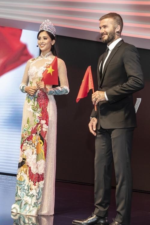 Hoa hậu Tiểu Vy: David Beckham điển trai, thân thiện
