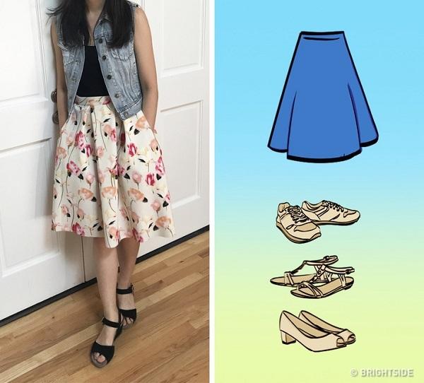 Cách mix giày với chân váy đúng chuẩn - 6