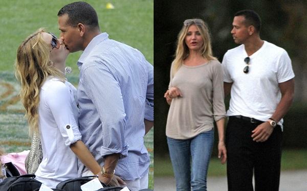 Kate (trái) và Cameron đều là tình cũ của cầu thủ bóng chày Alex Rodriguez.