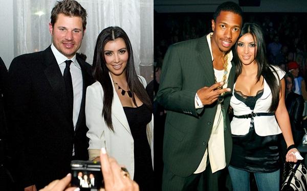 Nick Lachey (trái) và Nick Cannon đã có thời gian mặn nồng bên Kim Kardashian.
