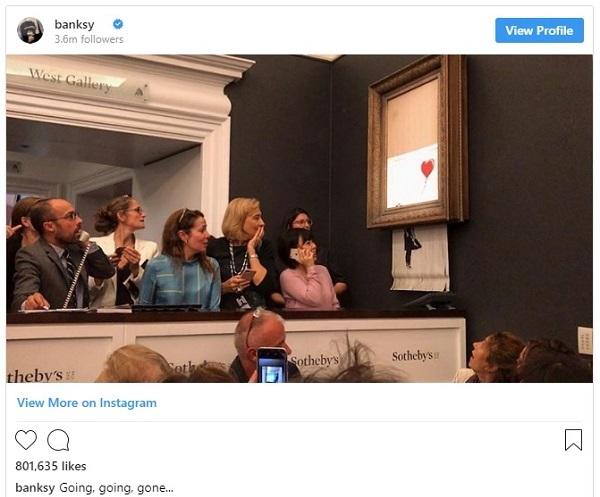 Bức tranh bỗng tự hủy sau khi được bán giá 1,4 triệu USD - 1