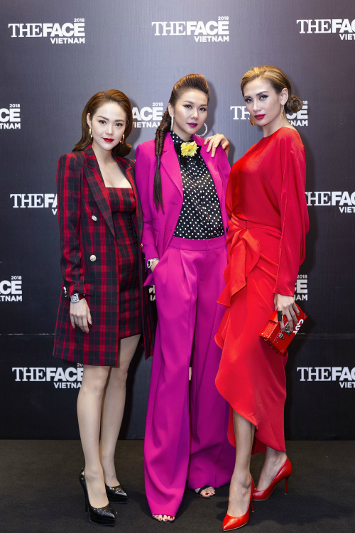 Thanh Hằng luôn đứng giữa trong tất cả các hoạt động tại The Face 2018.