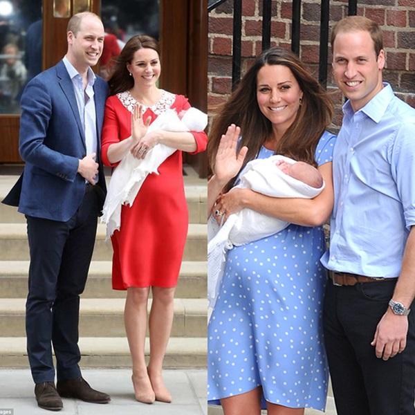 Công nương Kate luôn xuất hiện xinh đẹp, rạng rỡ chỉ vài giờ sau sinh.