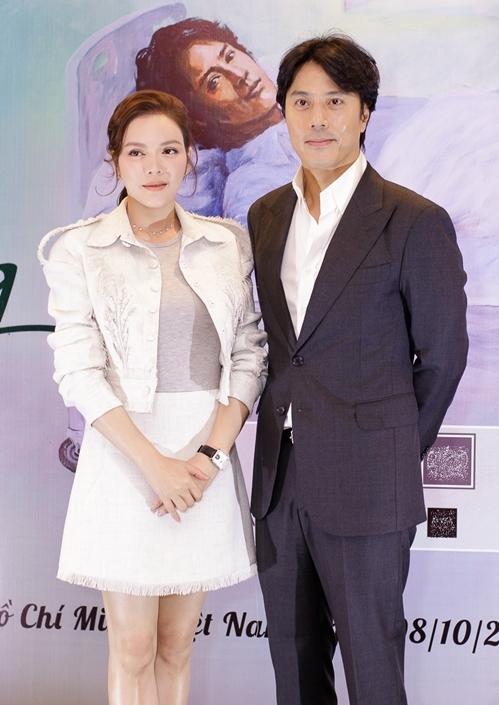 Lý Nhã Kỳ và Han Jae Suk tình tứ trong ngày ra mắt dự án phim Thiên đường.