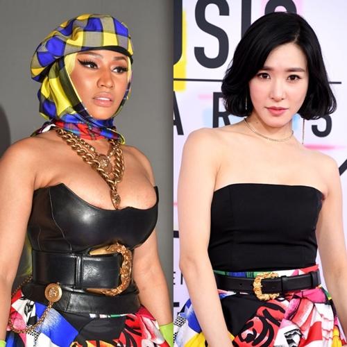 Đứng chung một khuôn hình, dù diện chung một chiếc váy nhưng mỗi ngôi sao đều có cách mix & match khác nhau.