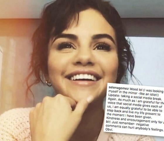 Selena mất hút trên mạng xã hội sau ngày 24/9.