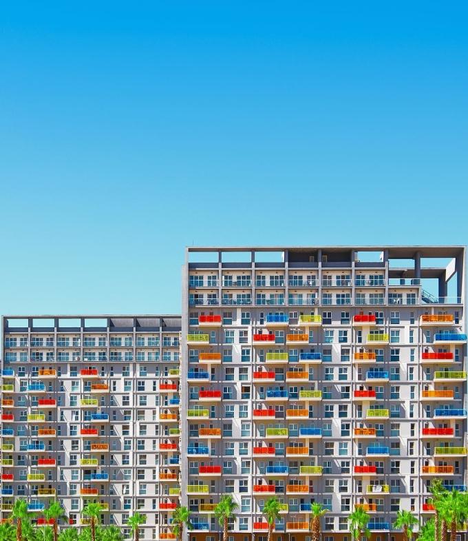 <p> Những bức hình cho thấy lối kiến trúc hình học thú vị của những tòa nhà ngoại ô Istanbul.</p>