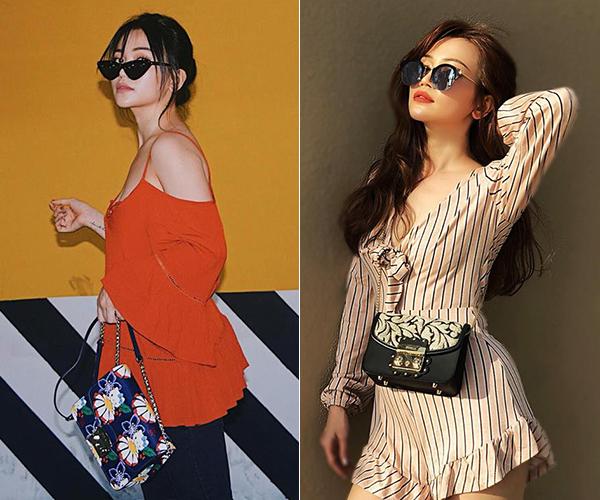 Trước đây, người đẹp thường chỉ gắn bó với quần áo, túi xách tầm trung. Cô sở hữu nhiều nhất là túi xách Furla có giá khoảng hơn 5 triệu đồng và được giới trẻ Việt yêu thích.